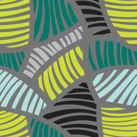 Abstract geometric striped colorful pattern. Seamless vector background. Vector illustration  イラスト・ベクター素材