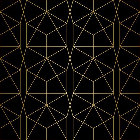 Golden texture.Seamless geometric pattern. Geometric pattern on a black background.