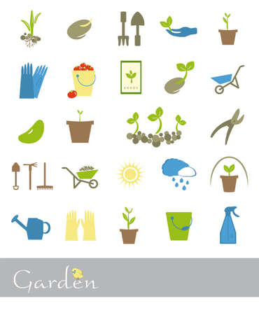sapling: 25 colorful icons on a theme garden