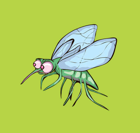 Vector illustration of mosquit Illustration