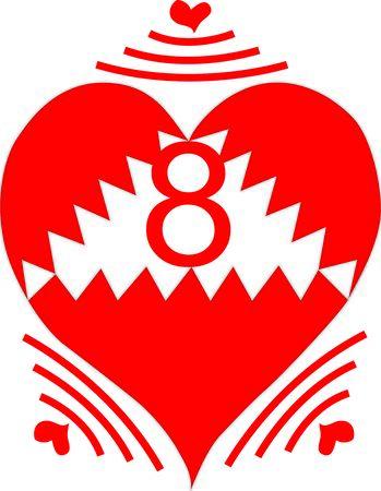 eight: Heart Wifi Number 8 Eight Illustration