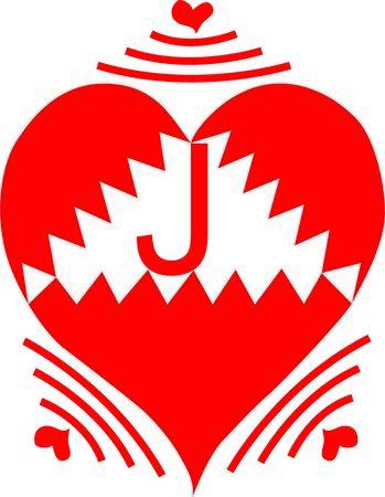 Wireless Heart Letter J Ilustração
