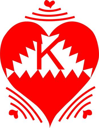 Wireless Heart Letter K