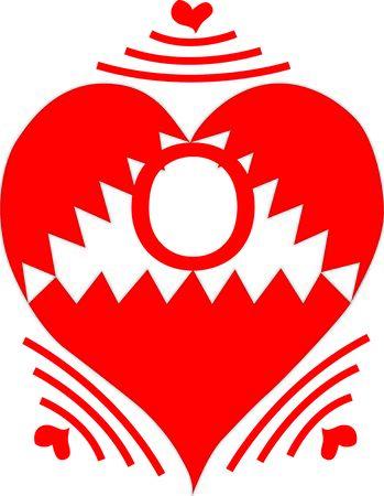 Wireless Heart Letter O Çizim