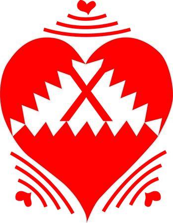 Wireless Heart Letter X