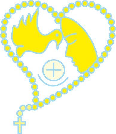 host: Dove Heart Rosary Virgin Host