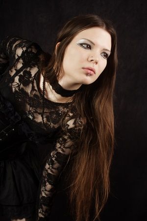 beautiful gothic girl portrait Stock Photo
