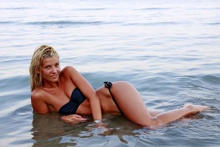 girl at the beach Stock Photo