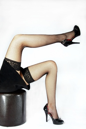 legs in stockings