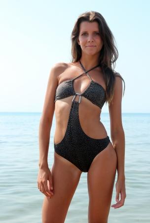 Girl at the beach in bikini