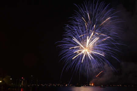 orta: fireworks in the lake