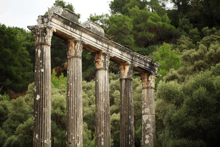 Temple of Zeus at ancient Greek settlement Euromos near milas town, Turkey