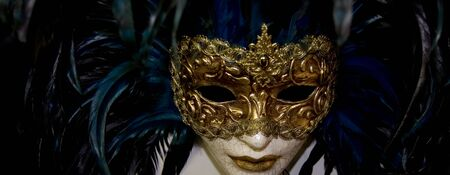 Masks from Italy to different concepts of art or psychological photo