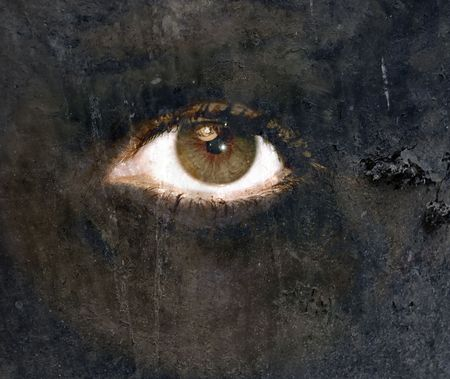 A treatment digital art creation of a eye in CS3.Representation of personal chaos, depression, or mental problems Stock Photo - 3808323