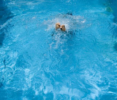 Man jumping into the pool Stock Photo - 5429434