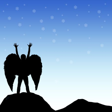 Drawings and layouts of angels and sky Stock Photo - 6037649