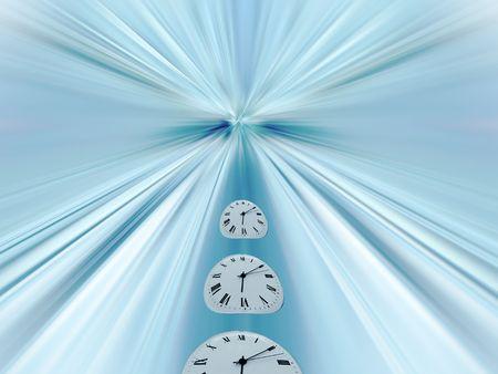 Clock conceptual. Representation of time