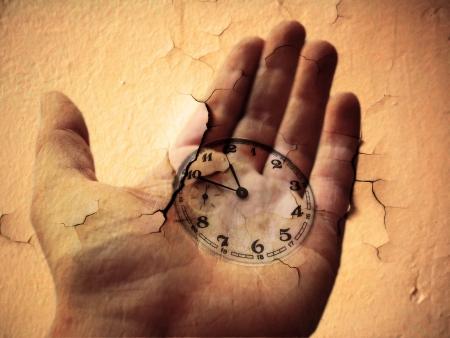 Clock conceptual Representation of time 版權商用圖片