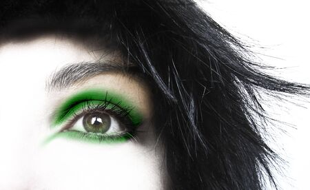Abstract eye for different concepts: beauty, fashion, dreams, makeup Stock Photo