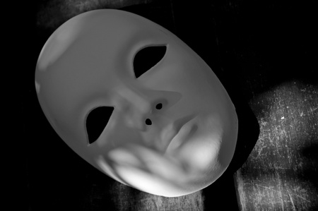 White mask for different concepts photo