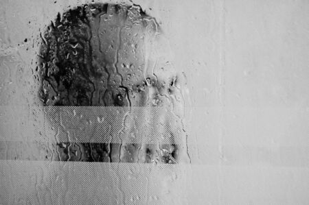 Man in the shower Stock Photo