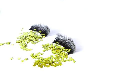 False eyelashes in black