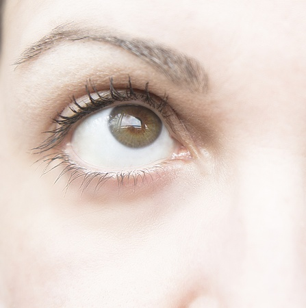 Eye of woman with natural makeup photo