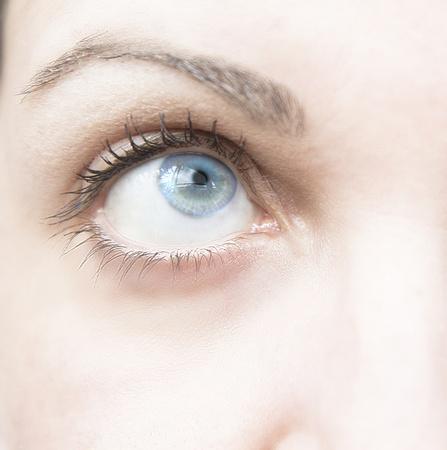 Eye of woman with eye blue photo