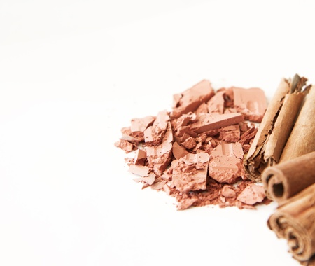 makeup and accessories, in tones brown natural Stock Photo