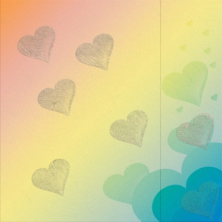 heart background with different textures