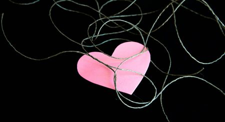 recollections: heart with  black background