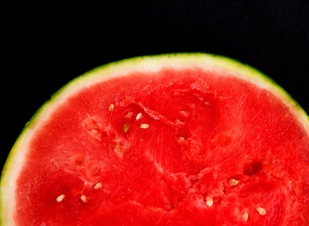 watermelon isolate with black background