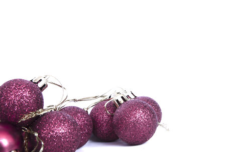 christmas balls with glitter