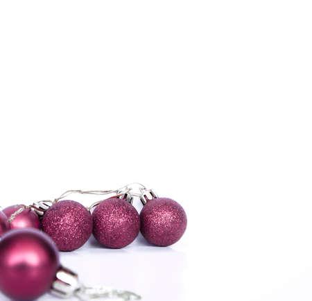christmas ball with glitter
