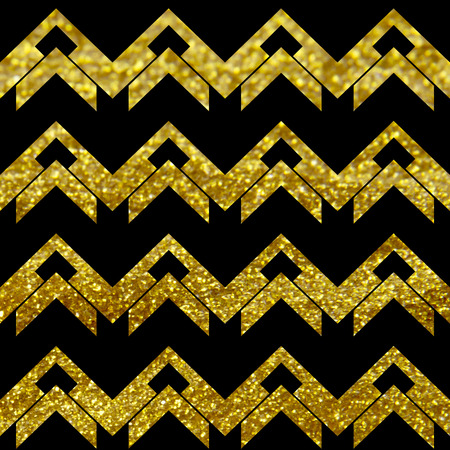 chevron pattern in black and golden