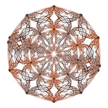 Mandala orange and beige