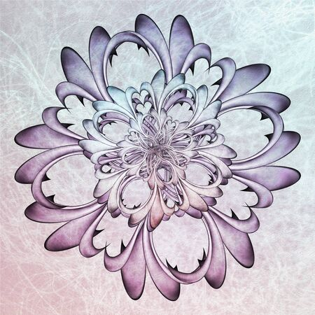 Floral Mandala With Textures