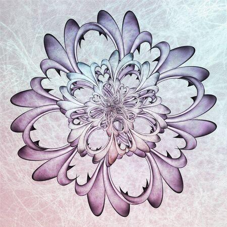 textures: Floral Mandala With Textures