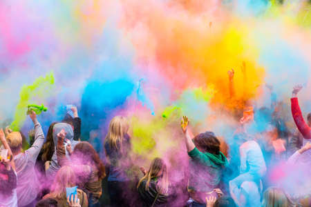 Holi color festival Stock Photo