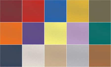 Set of 15 fashionable trend and classic palette Pantone colors. Porous rubber texture Stock Photo