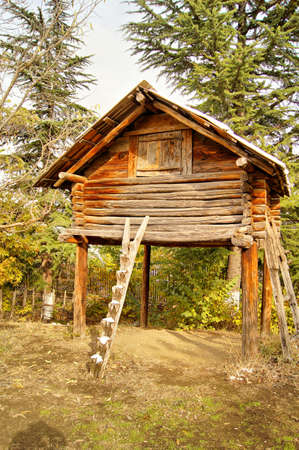 ethnographical: Rural landscape in the autumn time