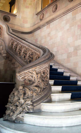 modernisme: Barcelona: famous stairs in Casa Fuster on Passeige de Gracia