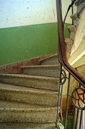 Old staircase in Tbilisi houses of 18-19 centuries, Republic of Georgia                   Stock Photo - 12073860