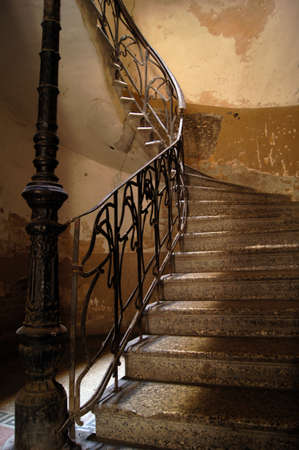 banister: Old staircase in Tbilisi houses of 18-19 centuries, Republic of Georgia