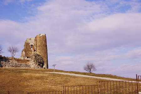 Exterior of ruins of Jvari, which is a Georgian Orthodox monastery of the 6th century near Mtskheta (World Heritage site) - the most famous symbol of georgiam christianity Stock Photo - 12074666