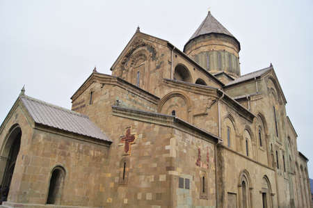 Exterior of ancient capital of Georgia - Mcxeta - Sveticxoveli castle-cathedral, one of the symbols of Georgia