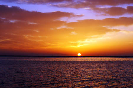 Sunrise over the Red sea in Egypt
