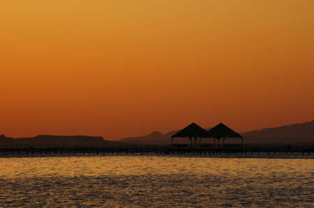 Sunrise over the Red sea in Egypt        photo