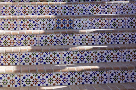 Arabic architecture  old walkway with ceramic tiles