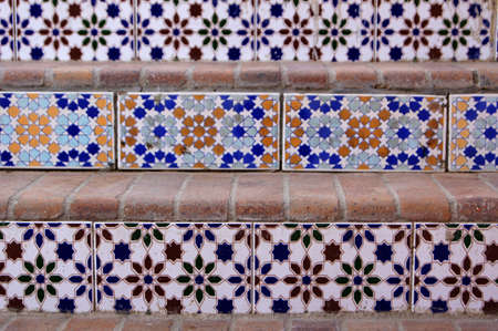 Ceramic tiles on the stairs outdoor in Sharm el-Sheih